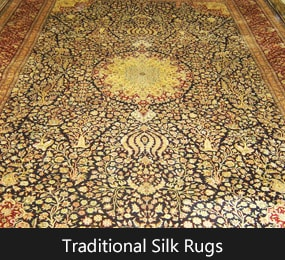 Traditional Silk Area Rugs